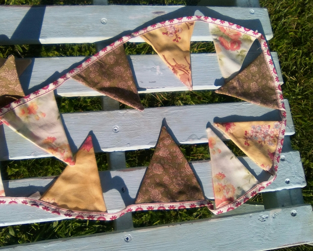 Bunting with Subtler, Smaller Triangles, Retro, Lots of Length. Let it Flutter!