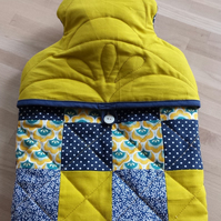 """MUSTARD"" - Quilted PATCHWORK Hot Water Bottle Cover"