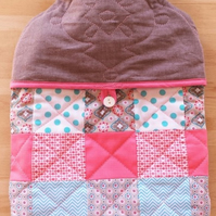 """LOLLIPOP"" - Quilted PATCHWORK Hot Water Bottle Cover"