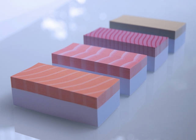 Super Sticky Adhesive Notes Set 'The Sushi Pack' 1040 Notes - Funny & Cute Gift