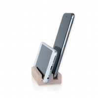 Business Card Holder & Phone, Tablet Display Stand - 50 Cards Capacity