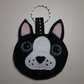 Felt Boston Terrier Keyring