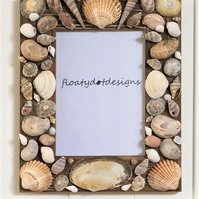 Nautical But Nice. Seashell Photo Frame. (Design 2)