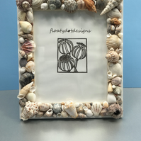 Nautical But Nice. Seashell Photo Frame. (Design 1)