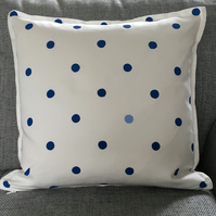Nautical But Nice. Slightly Dotty Cushions in Two Blues or Multi