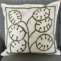 Gone To Seed. Honesty Print Cushion