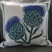 Gone To Seed Cardoon Cushion