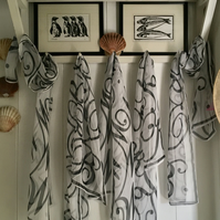 Ladies (Initial S, T, W or Z) Hand Designed Chiffon Scarf.