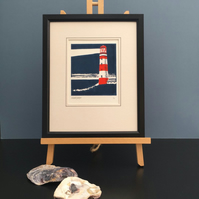 Nautical But Nice. Lighthouse. Limited Edition Linocut Print