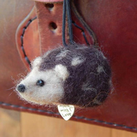 Hedgehog Charm.  Needle felted MADE TO ORDER