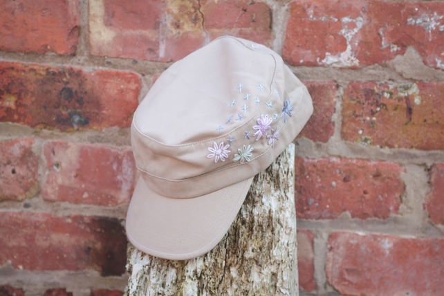 39d39d68e48 Embroidered Military cap - Folksy