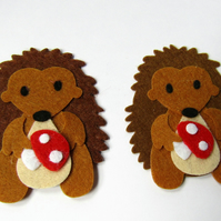 Felt Hedgehogs, Hedgehog Die Cuts