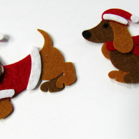 Felt Sausage Dogs, Felt Dachshunds, Pack of Dogs