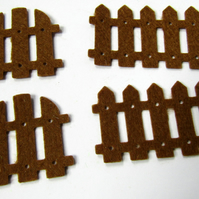Brown Felt Picket Fences