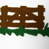 Brown Felt Picket Fences 02