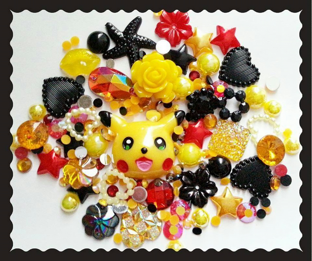 Pikachu Themed Diy Decoden kit. Pokemon, Alternative, kawaii.