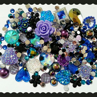 Galaxy, Cosmos, Universe, Space themed Diy decoden kit. Cabochons, Embellishment