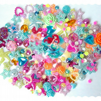 Under the Sea, Ariel themed decoden kit. bright colourful mix. last one!
