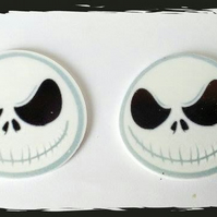 Jack Skellington themed planer resin cabochons. Nightmare before Christmas.