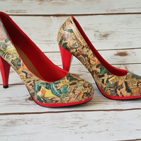 Customised Vintage Wonder Women Comic Shoes - 100% of sale price goes to Tommys