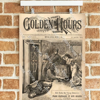 Golden Hours 'The Disappearance Of Edith Eggleston'- Vintage Poster