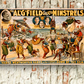 'The Al 'G' Field Greater Minstrels' Vintage Circus Poster