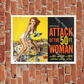 Attack Of The 50ft Woman Vintage A4 Poster or A5 Greeting Card