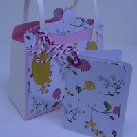 Floral Gift Hand Bag. Store card Gift Giver
