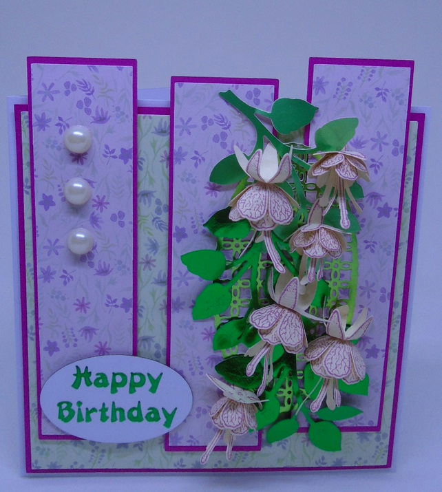 Birthday Fuchsias card.