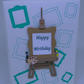 Artists Easel card