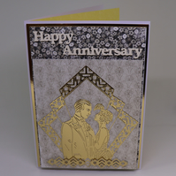 Art Deco Anniversary Card.