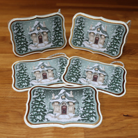 Christmas Cottage in the Snow, Gift Tags.