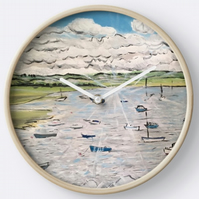 Beautiful Wall Clock Featuring The Painting 'Calm, Peace, Tranquility'