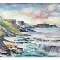 Canvas Print Wall Art Taken From The Original Oil Painting 'Cornish Cove'