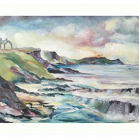Art Print Taken From The Original Oil Painting 'Cornish Cove'