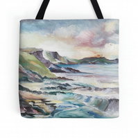 Beautiful Tote Bag Featuring A Design Based On The Painting 'Cornish Cove'
