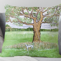Throw Cushion Featuring The Painting 'So Great And Mighty'