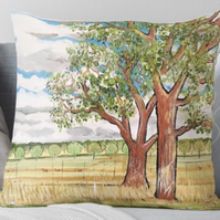 Throw Cushion Featuring The Painting 'The Answer Is Blowing In The Wind'