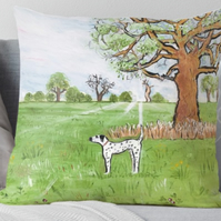 Throw Cushion Featuring The Painting 'Tuesday Afternoon'