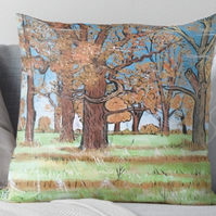 Throw Cushion Featuring The Painting 'A Beautiful New Day'
