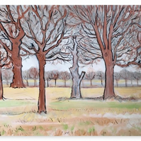 Canvas Print Wall Art Taken From The Original Oil Painting 'Midwinter'