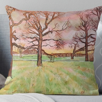 Throw Cushion Featuring The Painting 'Sweet Harmony At Sunset'