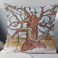 Throw Cushion Featuring The Painting 'Down Pour'
