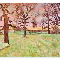 Canvas Print Wall Art Taken From The Original Oil Painting 'Sweet Harmony'