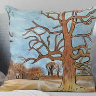 Throw Cushion Featuring The Painting 'Flourishing! Springtime Is Near'