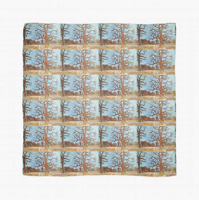 Beautiful Scarf Featuring A Design Based On The Painting 'Flourishing'