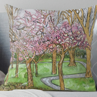Throw Cushion Featuring The Painting 'So Fragile, So Beautiful'