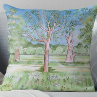 Throw Cushion Featuring The Painting 'Feeling Delicate'