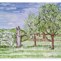 Canvas Print Taken From The Original Oil Painting 'Till The May Be Out'