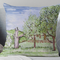 Throw Cushion Featuring The Painting 'Till The May Be Out'